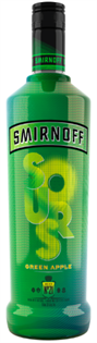 Smirnoff Sours Vodka Green Apple 1.00l